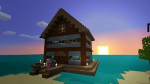 Survival Island Floating House by burntcustard
