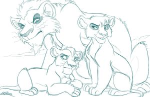 Family Portrait - Collab by kohu-scribbles