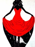 The red dress and the universe. by MadameNemo