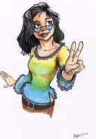 Hippie Chick Commission by Pencilbags