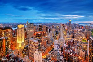 Magic skyline of New York by Nightline