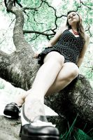 Girl in tree by tintti81