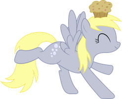 Derpy dance with a Muffin by Darknisfan1995
