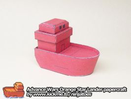 Papercraft Advance Wars Orange Star Lander by ninjatoespapercraft