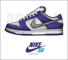 "Nike Dunk Low SB ""Var. Purple"" by BBoyKai91"