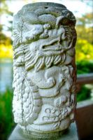 Chinese Dragon Carved in Stone by rafaelmcsilveira