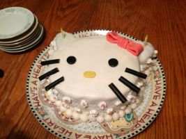 hello kitty cake by aqualunar