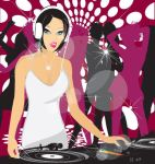Vector Dj girl illustration by vectorrobot