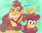 Nintendo: Donkey Kong and Diddy Kong by brookellyn