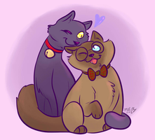 Cat Omens: Aziraphale and Crowley by aliceapproved
