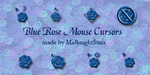 Blue Rose Cursors by MidknightStarr