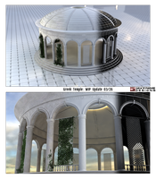 WIP -Greek Temple Garden 2 by foxgguy2001
