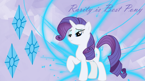 Rarity is Best Pony Wallpaper by PlatypusStew