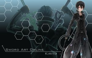 Sword Art Online - Kirito Wallpaper by Yugoku-chan