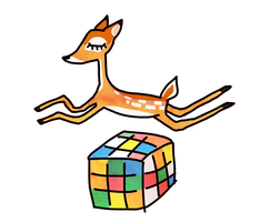 bambi and the cube by sodii