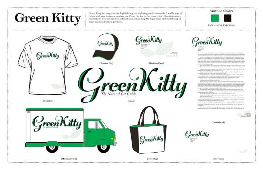 Green Kitty Presentation Board by EmmaL27