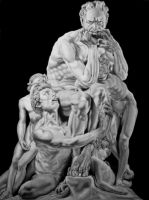 Ugolino and His Sons (Pencil Drawing) by Paul-Shanghai