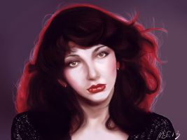 Kate Bush portrait by inicka