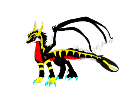 Electrical Dragon -PRICE REDUCED- by DemoniaTheGuardian