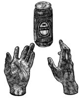 hands and a can by captainrosteck
