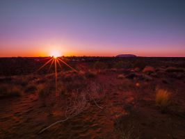 Ayers Rock at Sunrise by icedragonpeach
