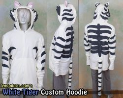 White Tiger Custom Hoodie! by lemonbrat