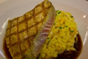 Grilled tuna over rissoto by denehy