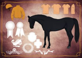 Horse lineart pack preview by Templado
