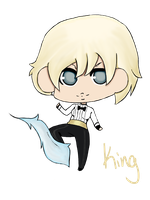 KOF Chibis: King by Izu-kun