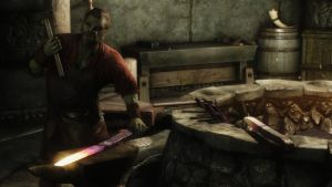 Skyrim: NPC Blacksmith in Markath by haunted-passion