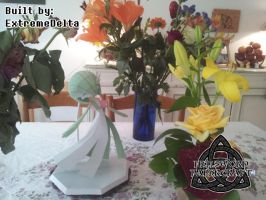 Pokemon Gardevoir Papercraft Dance With Flowers by HellswordPapercraft