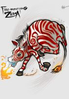 Fire-Breathing Zebra by lord-phillock