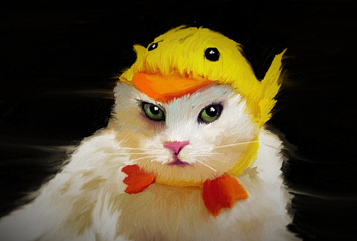 The cat who killed Titi to make a fashion hat by Titiecat