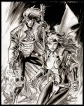 Gambit and Rogue by manapul