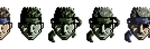 Solid Snake Pixel by RuokDbz98
