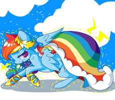 gala rainbow dash by matcharoll