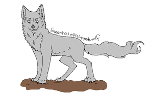Ghost Wolf Lineart by ProtoSykeLegacy
