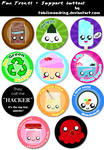 .+ Fun Treats Buttons +. by tobi2moodring