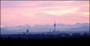 Munich Sunset by Tienna