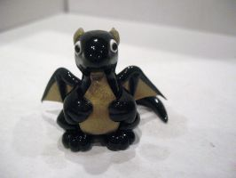 Black and Gold Chubby Dragon by drakeo1903