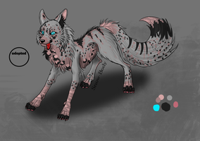 Wolfie Adoptable by GalaxyCrowButt