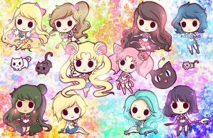 Sailor Chibi Dolls by Geegeet