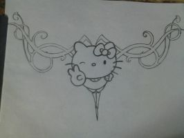hello kitty without colour by vincinero
