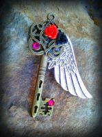 Dark Angel Wing Fantasy Key by ArtByStarlaMoore