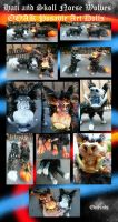 Hati and Skoll Posable Dol Pair OOAK on Ebay now! by Eviecats