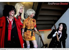 Hellsing Cosplay: Fancy Seeing You Here by Redustrial-Ruin