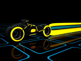 tron lightcycle - textured by colonel-juhziz