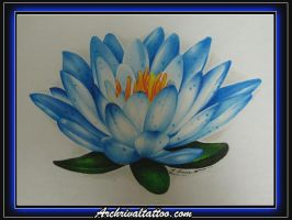 Blue Water Lily by ritch-g