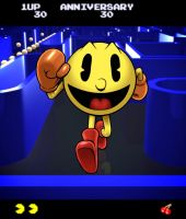 Pac-Man 30th Anniversary by PrimeOp