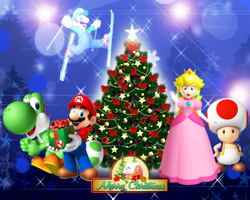 Super Mario - Merry Christmas 2011 by Legend-tony980